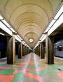 Platform. A platform at the underground railway station at Sodermalm, Stockholm Royalty Free Stock Photography