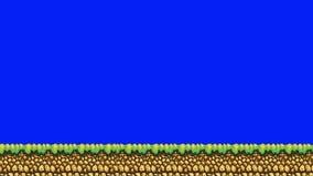 Platform Arcade Game Over on a Green Screen Background. Platform Arcade Game Over on a Blue Screen Background vector illustration