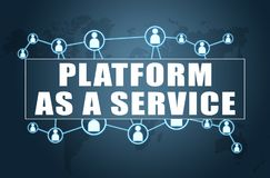Platform as a Service royalty free illustration
