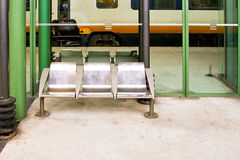 Platform bench Stock Images