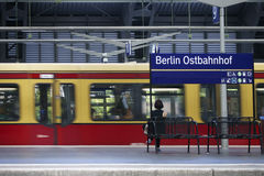 Platform Berlin Railway Station Royalty Free Stock Image