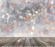 Platform with bokeh background Stock Images