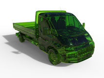 Platform delivery van - green glass Royalty Free Stock Photography