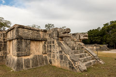 The Platform of Eagles and Jaguars in the Great Plaza at Chichen Royalty Free Stock Image