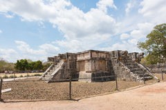 Platform of the eagles and jaguars in the Mayan city of Chichen Itza in Mexico Stock Photo