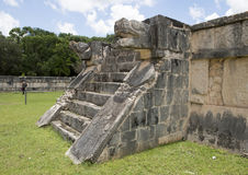 Platform of the Eagles and Jaquars, Chichen Itza Royalty Free Stock Images