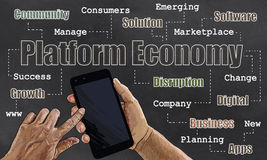 Platform Economic Illustration Royalty Free Stock Images