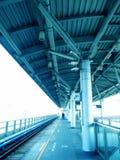 Platform. Empty Mass Rapid Transit Platform Stock Photo