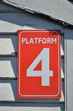 Platform four sign Stock Photos