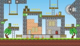 Free Platform Game Tileset 2 Stock Images - 64517584