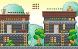 Platform game tileset 11 Royalty Free Stock Photo