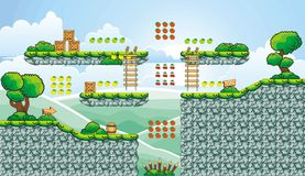 Platform game tileset 12 vector illustration