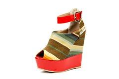 Platform heel sandal Royalty Free Stock Images