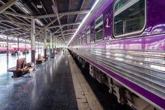 Platform 4, Hua Lamphong station, Bangkok Royalty Free Stock Photography