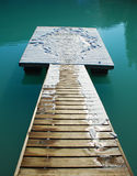 Platform in Lake Royalty Free Stock Photos
