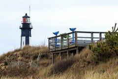 Platform and a Lighthouse Royalty Free Stock Photos