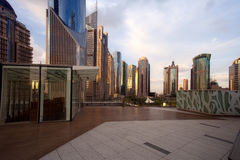 Platform in Lujiazui business area Royalty Free Stock Photo