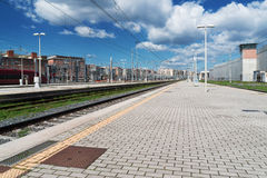 Platform on railway train station Royalty Free Stock Images