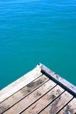 Platform naast overzees Royalty-vrije Stock Foto