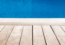 Platform near the swimming pool Royalty Free Stock Images