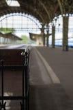 Platform of the old train station Stock Images