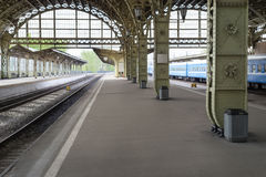 Platform of the old train station Royalty Free Stock Image