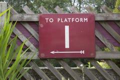 Platform One Sign Stock Photography