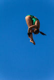 Platform Pool Diving Girl Aquatic Stock Image