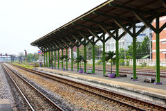 Platform at railway station. Thailand royalty free stock photography