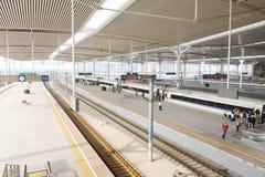 platform of railway station Royalty Free Stock Image