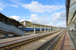 The platform of the railway station, Vitebsk, Belarus Stock Images