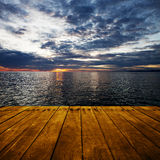 Platform beside sea Royalty Free Stock Photo