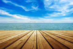 Platform beside sea Royalty Free Stock Photos