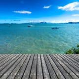 Platform beside sea Stock Images