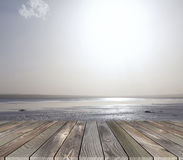 Platform with sea view Royalty Free Stock Photos
