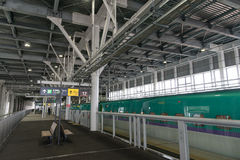 The platform of Shin-Hakodate-Hokuto station. Royalty Free Stock Photo