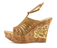 Platform shoe on white Royalty Free Stock Images