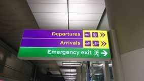 Platform sign on Heathrow express Royalty Free Stock Images