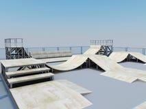 Platform for a skating or roller Stock Photo