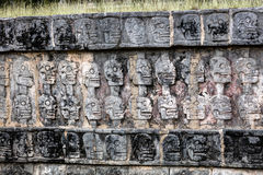 Platform of the Skulls in Chichen Itza Royalty Free Stock Images