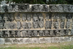 Platform of skulls at Chichen Itza, Mexico Stock Photography