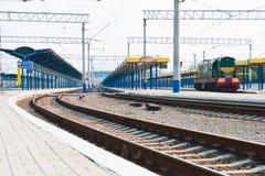 Platform of station Stock Photo