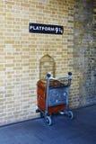 Harry Potter Platform 9 3/4 Stock Photo