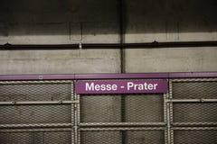 Vienna subway Royalty Free Stock Image