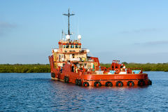 Platform Supply Vessel Royalty Free Stock Photo