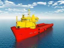 Platform Supply Vessel Stock Image