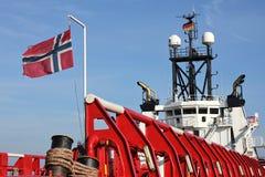 Platform supply vessel Stock Images