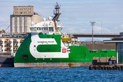 Platform supply vessel stock photography