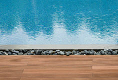 Platform beside swimming pool Stock Images