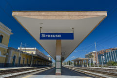 Platform from syracuse station Stock Image